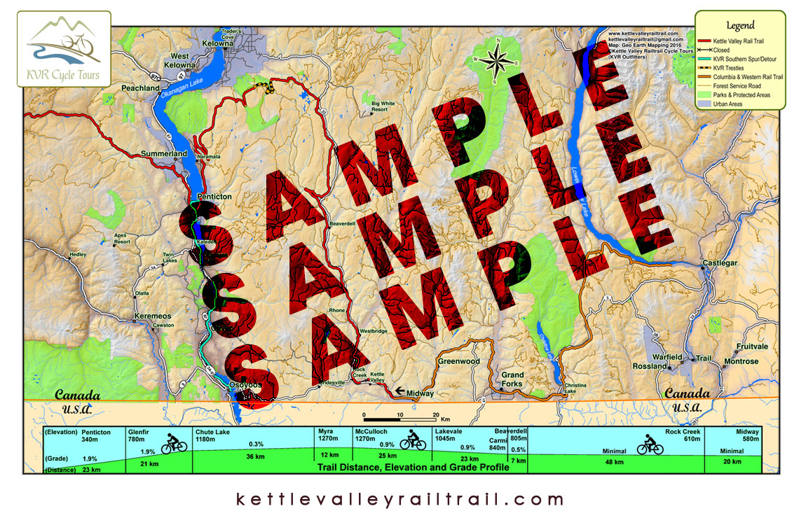 Map Of Canada For Grade 3.Kvr Map Series Kvr Rail Trail